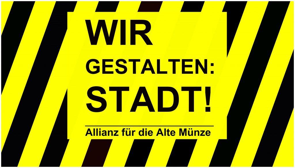 AG Alte Münze | Wir gestalten Stadt -Logo